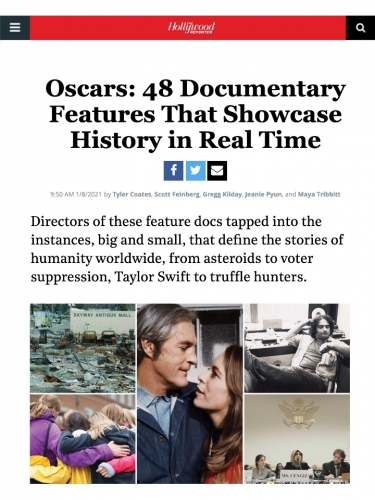 Oscars: 48 Documentary Features That Showcase History in Real Time