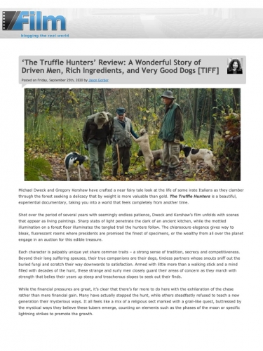 'The Truffle Hunters' Review: A Wonderful Story of Driven Men, Rich Ingredients, and Very Good Dogs [TIFF]