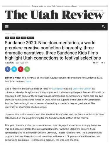 Sundance 2020: Nine documentaries, a world premiere creative nonfiction biography...