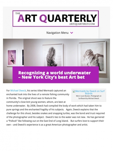 Recognizing a world underwater – New York City's best Art bet