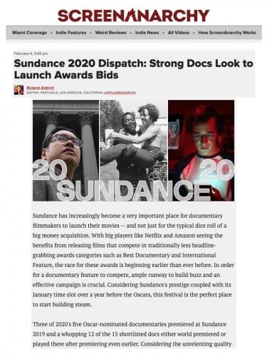 Sundance 2020 Dispatch: Strong Docs Look to Launch Awards Bids