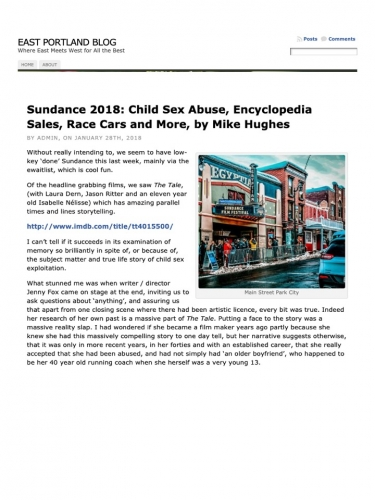 Sundance 2018: Child Sex Abuse, Encyclopedia Sales, Race Cars and More