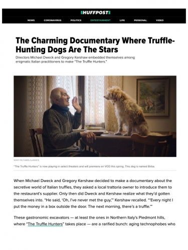 The Charming Documentary Where Truffle-Hunting Dogs Are The Stars