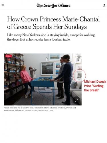 Michael Dweck work in Crown Princess Marie-Chantal of Greece's home