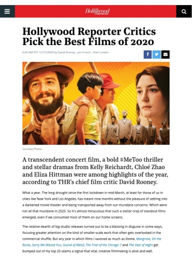 Hollywood Reporter Critics Pick the Best Films of 2020