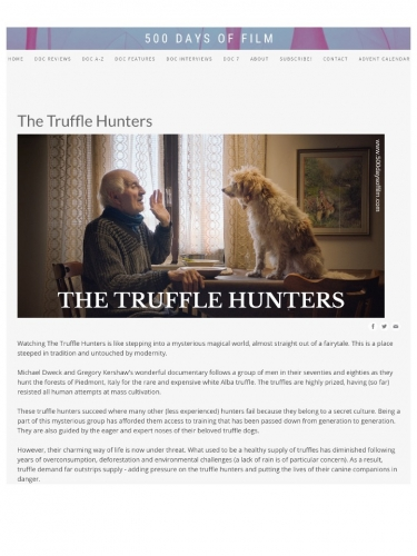 The Truffle Hunters - Review