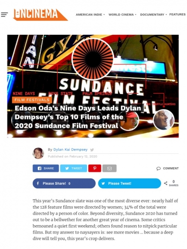 Edson Oda's Nine Days Leads Dylan Dempsey's Top 10 Films of the 2020 Sundance Film Festival