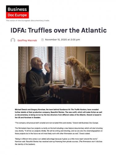 IDFA: Truffles over the Atlantic