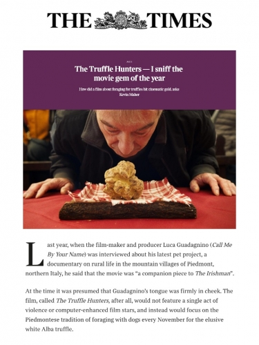 The Truffle Hunters — I sniff the movie gem of the year