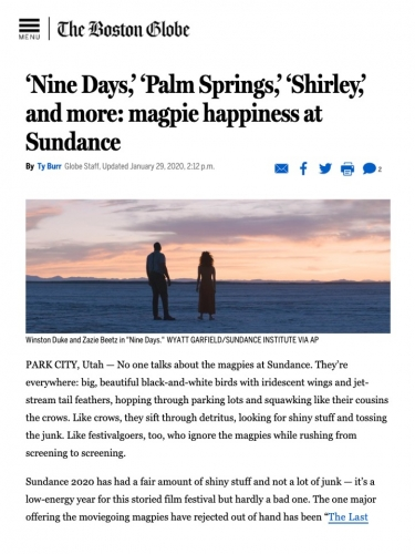 'Nine Days,' 'Palm Springs,' 'Shirley,' and more: magpie happiness at Sundance