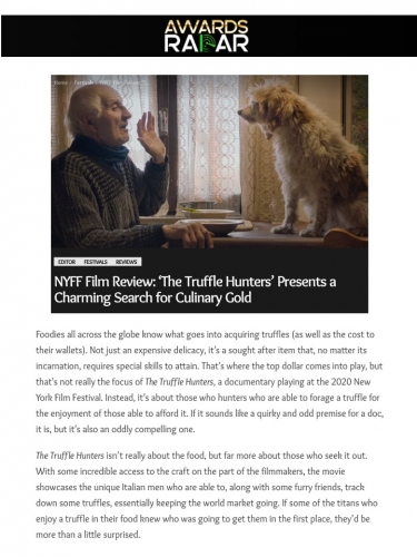 NYFF Film Review: 'The Truffle Hunters' Presents a Charming Search for Culinary Gold