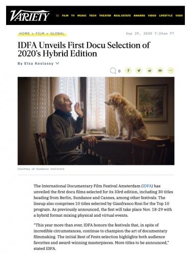 IDFA Unveils First Docu Selection of 2020's Hybrid Edition