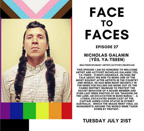 """Nicholas Galanin interviewed by Mariangela Abeo for """"Face to Faces"""" Podcast"""