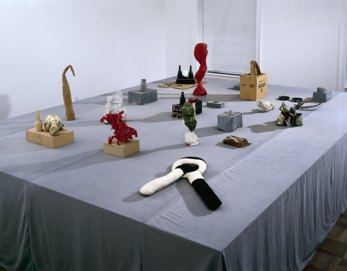 Installation view: 2004 A.R. Penck exhibition at Michael Werner Gallery, New York