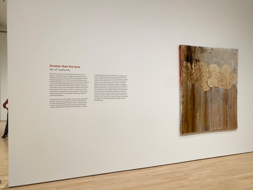 This is an image of an artwork by Brenna Youngblood on view at the San Francisco Museum of Modern Art.