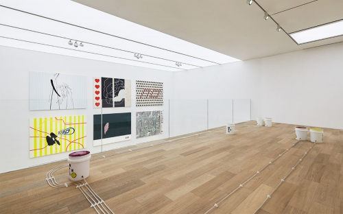 """This is an image of the exhibition by Egan Frantz titled """"Not Enough Words"""" at Foundry Seoul."""