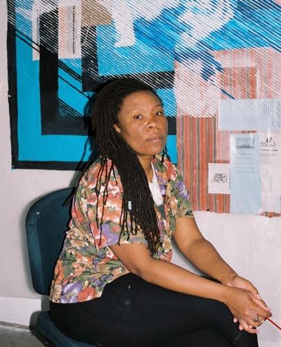 Tomashi Jackson, portrait by Awol Erizku, 2020.