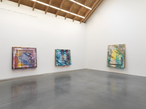 This image is an installation view of the exhibition by Tomashi Jackson titled The Land Claim at the Parrish Art Museum.