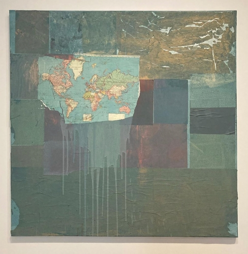Brenna Youngblood, Map of the World, 2015 on view at the Seattle Art Museum.