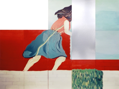 David Lamelas  Woman running in twelve sections, 2018  Archival pigment print with aluminum chine-colle, ed. 40  30 x 40 in.   717c-DL18  $550