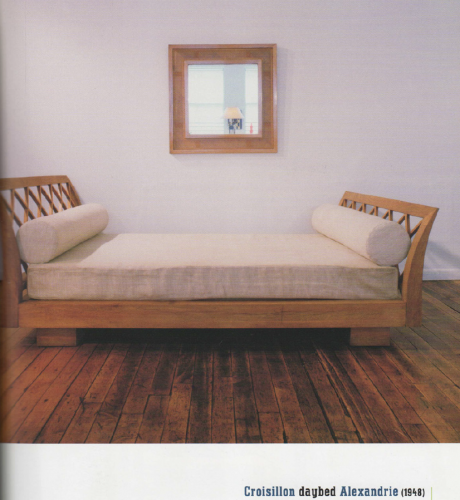 """The """"Alexandrie"""" daybed, """"croisillon"""" model, Stephane & Catherine de Beyrie collection, c. 2000"""