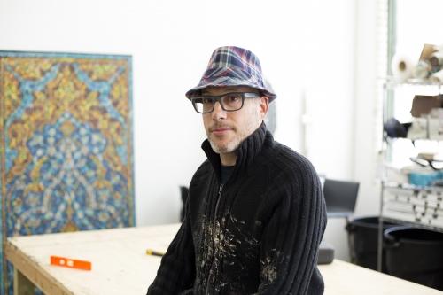Bradley Hart in studio, Anna Zorina Gallery