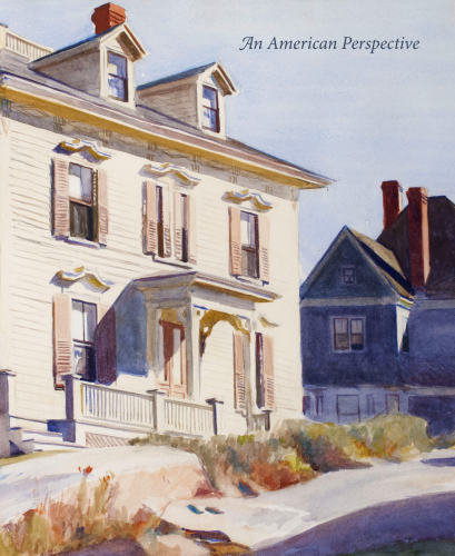 Catalogue cover of American Perspective I, with image of an Edward Hopper watercolor of a house in Gloucester, Mass.