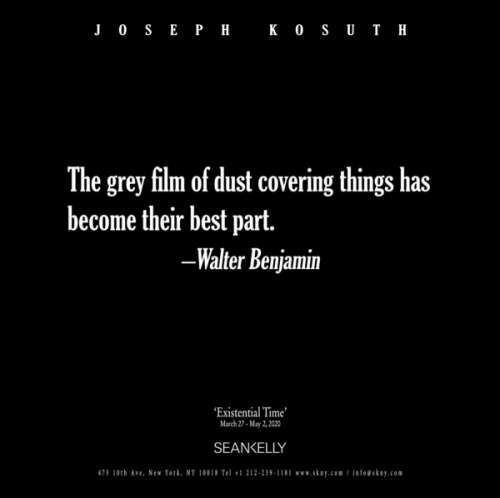 Joseph Kosuth | 'Existential Time'