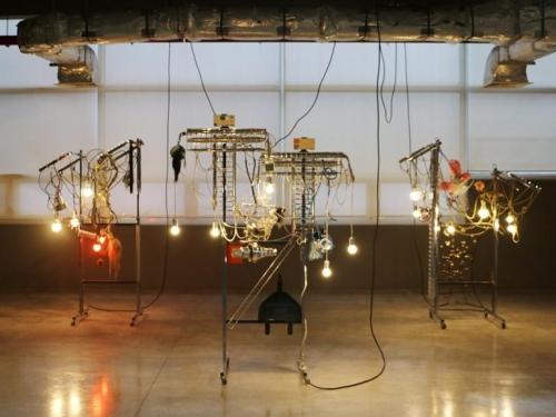 haegue yang, installation view of strange attractors, tate st ives, cornwall, 2020