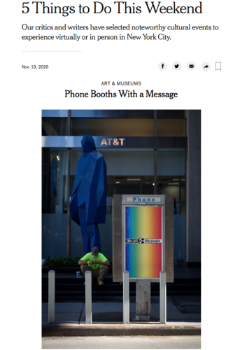prensa: phone booths with a message