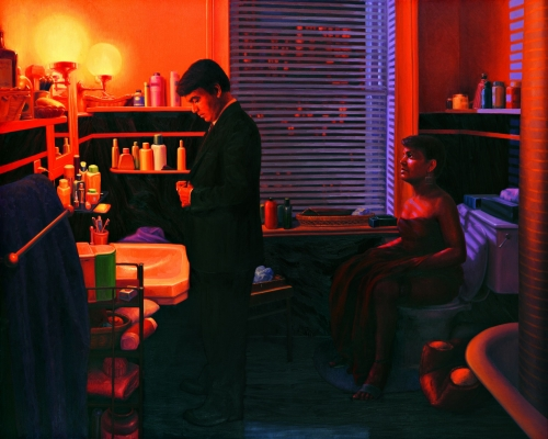 ABIR KARMAKAR  Interiors I, 2006  Oil on canvas  72 x 88.7 in / 183 x 228 cm