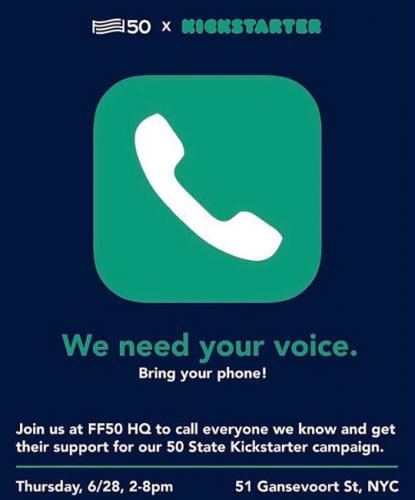 For Freedoms Hosts Live Phonebank at Fort Gansevoort