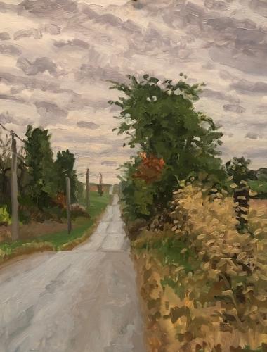 Max Mason, Napton Roadside, Oil On Canvas