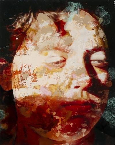 """Faccia #2, 19"""" x 15"""", Oil On Canvas"""