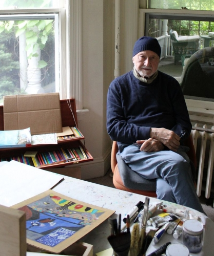 Frederic Tuten at his home in the Hamptons