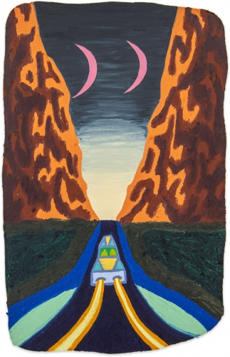 Eliot Greenwald, Night Car (seasonal figure 4), 2020