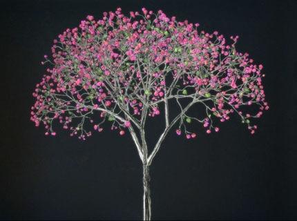 Shimmering Tree: A Projection by Jennifer Steinkamp