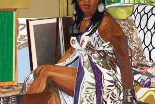 Mickalene Thomas: Femme au divan II