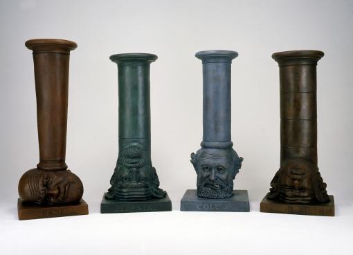 Robert Arneson set of four bronze sculptures