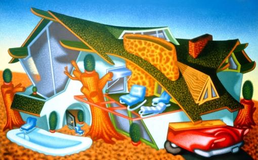 Peter Saul, 'Modern Home' 1989.