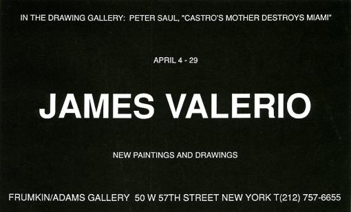 James Valerio April 1995 Exhibition Announcement