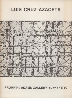 Luis Cruz Azaceta 'Broken Realities' 1990 Exhibition Announcement