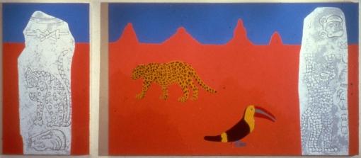 Joan Brown, 'The Jaguar and the Toucan' 1988