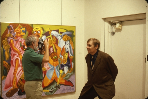 Robert Arneson and Jack Beal at the gallery