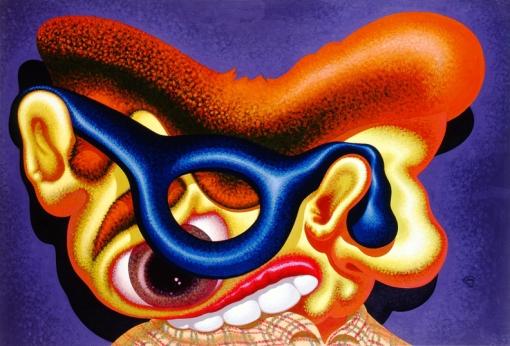 Peter Saul, Self Portrait (Blue Glasses) 1986