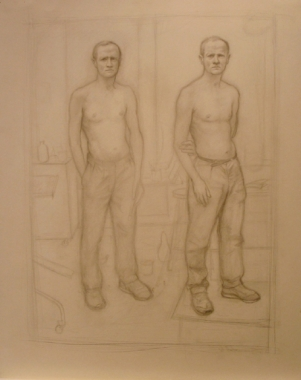 William Beckman, Double Self-Portrait 1987