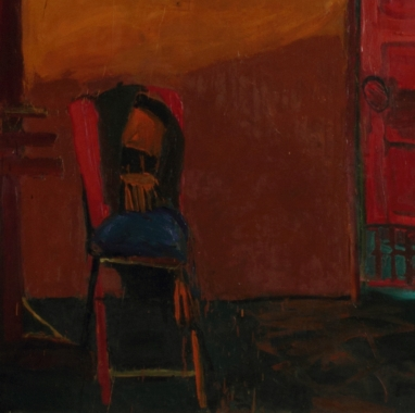 detail, Joan Brown, Portrait of a Chair
