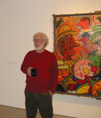 Roy De Forest at the gallery 2005