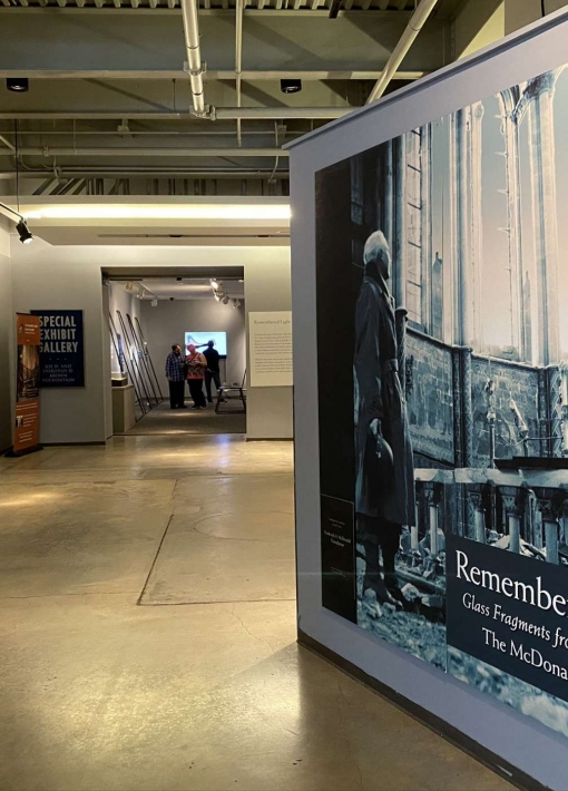 """Remembered Light: Glass Fragments from World War II, the McDonald Windows"" 