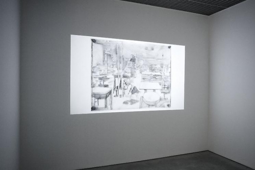 Installation view of the video from: